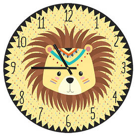 Часы настенные круглые, 36 см Львенок индеец