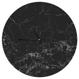Часы настенные круглые, 36 см Черный мрамор