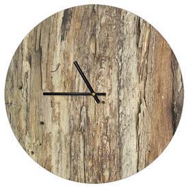 Часы настенные круглые, 36 см Кора дерева