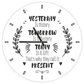 Часы настенные круглые, 36 см Present