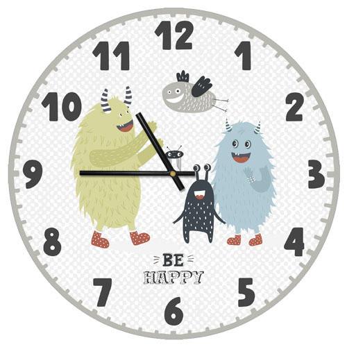 Часы настенные круглые, 36 см Be happy