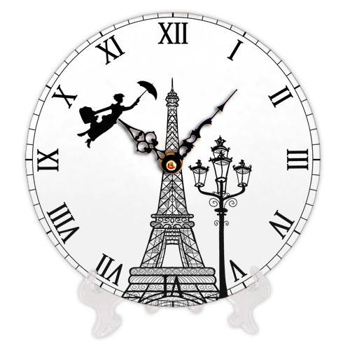 Часы настенные круглые, 18 см Eiffel Tower art