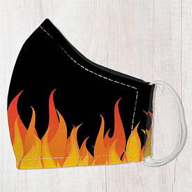 Маска защитная для лица, размер L-XL Пламя