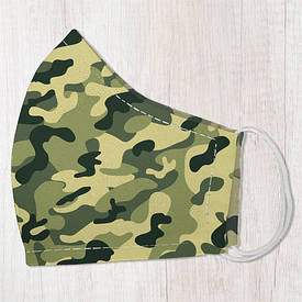 Маска защитная для лица, размер L-XL Камуфляж