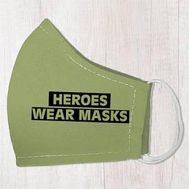 Маска защитная для лица, размер L-XL Heroes wear masks