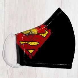 Маска защитная для лица, размер L-XL Superman