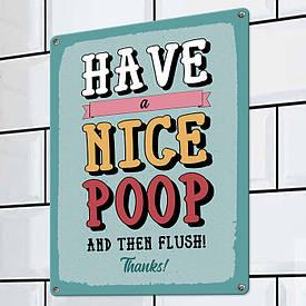Металева табличка Have a nice poop