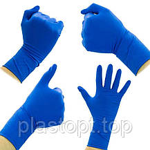 Оглядові рукавички нестерильні AMBULANCE PF (High Risk) L 25пар / уп, фото 2