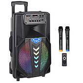 Активная акустическая система BIG PRO BIG240STAR USB/MP3/FM/BT/TWS + 2 беспроводных микрофона 240 Ватт