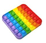 Антистресс сенсорная игрушка Pop It квадрат Силиконовая Поп Ит Push Up Bubble Разноцветная Пупырка, фото 3