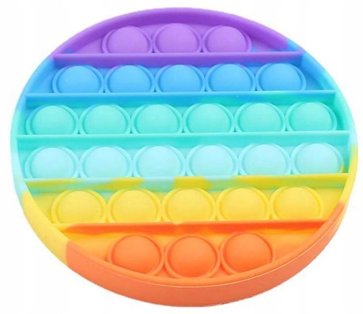 Антистресс сенсорная игрушка Pop It круг Силиконовая Поп Ит Push Up Bubble Разноцветная Пупырка