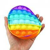 Антистресс сенсорная игрушка Pop It круг Силиконовая Поп Ит Push Up Bubble Разноцветная Пупырка, фото 4