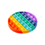 Антистресс сенсорная игрушка Pop It круг Силиконовая Поп Ит Push Up Bubble Разноцветная Пупырка, фото 6