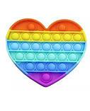 Антистресс сенсорная игрушка Pop It сердце Силиконовая Поп Ит Push Up Bubble Разноцветная Пупырка, фото 5