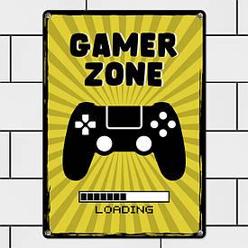 Металева табличка Gamer zone