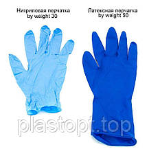 Оглядові рукавички нестерильні AMBULANCE PF (High Risk) S 25пар / уп, фото 2