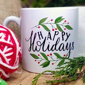 Кружка маленька Happy holidays