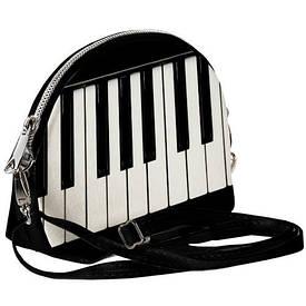 Маленькая женская сумочка Coquette Клавиши пианино, музыка