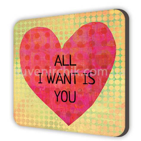 Магнит сувенирный All I want is you, фото 2