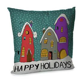 Наволочка для подушки 45х45 см Happy holidays