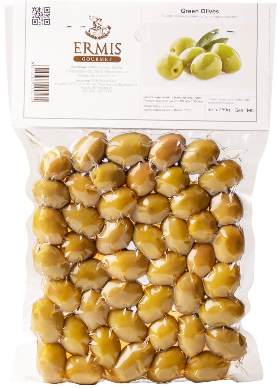 Оливки зелёные, 250 грамм