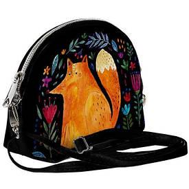 Маленькая женская сумочка Coquette Лиса и цветы