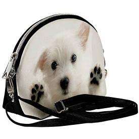 Маленькая женская сумочка Coquette Белый щенок