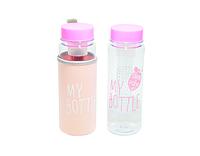 Пляшечка для напоїв + чохол MY BOTTLE NEW Pink бутылка с чехлом май ботл