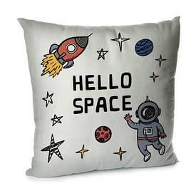 Наволочка для подушки 45х45 см Hello space
