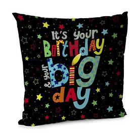 Наволочка для подушки 45х45 см Birthday