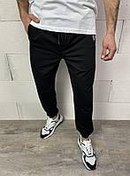 Мужские спортивные штаны черного цвета(черные) с манжетом внизу Турция