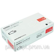 Рукавички латексні Mercator Medical Santex powdered, розмір L , 50 пар., фото 3