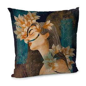 Наволочка для подушки 45х45 см Floral woman