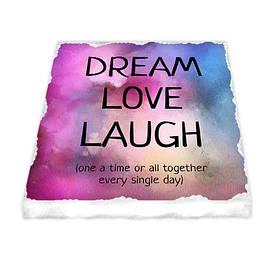 Керамічний магніт Dream love laugh
