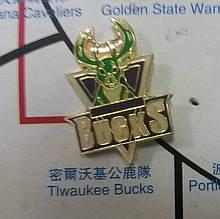 Металлический значок баскетбольного клуба «Милуоки Бакс»