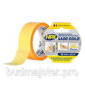 Стрічка малярна HPX 4400 Gold 38мм, 25м для чітких контурів