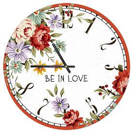 Часы настенные круглые, 36 см Be in love