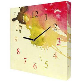 Часы настенные квадратные Кляксы