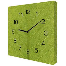 Часы настенные квадратные Листик