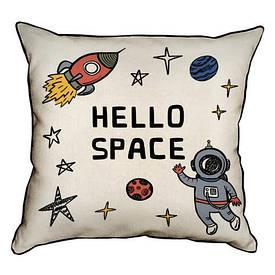 Наволочка декоративна 45х45 см Hello space