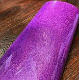 Термотрансферная пленка для термопечати Глиттер цвет Сиреневый 50х50см, фото 2