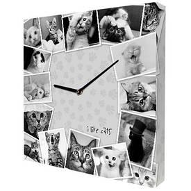 Годинники настінні квадратні Котики