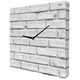 Годинники настінні квадратні Цегляна стіна