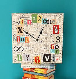 Годинники настінні квадратні Математичні годинник