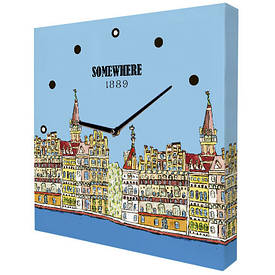 Часы настенные квадратные Somewhere 1889
