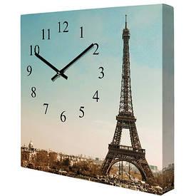 Годинники настінні квадратні Ейфелева вежа