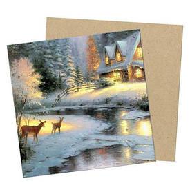 Маленькая открытка Christmas