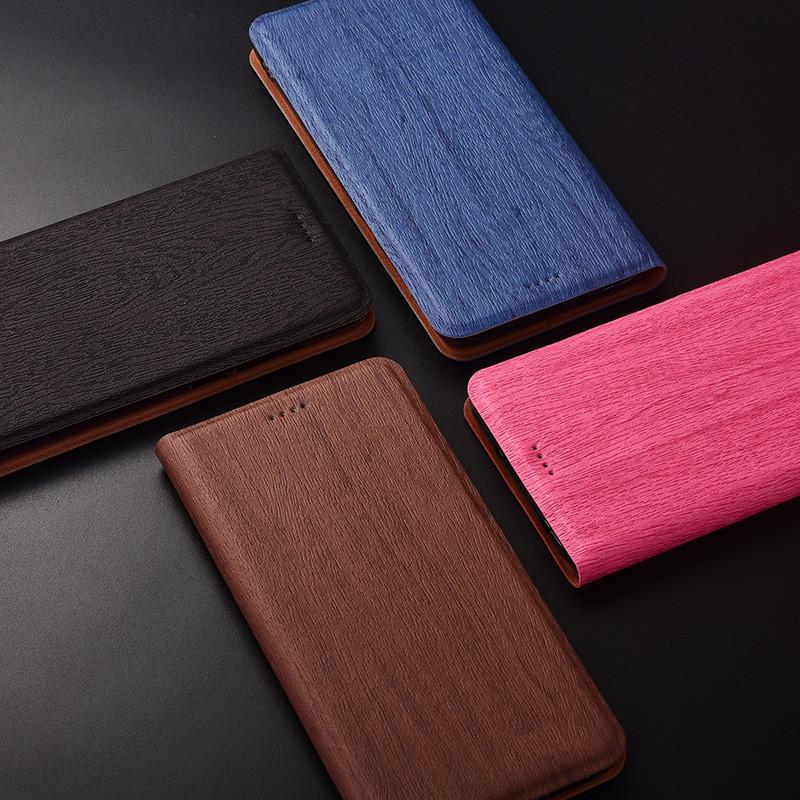 """Чехол книжка с текстурой дерева из иск. кожи для Xiaomi Mi 8 SE """"WOODER"""""""