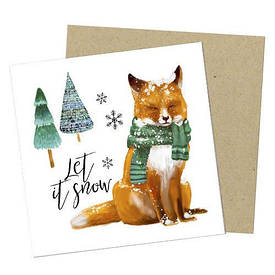 Маленькая открытка Let it snow