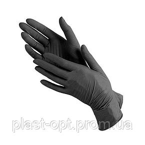 Захисні рукавички нітрилові LUXIMED Medical, розмір M чорні (100 шт/уп), фото 2